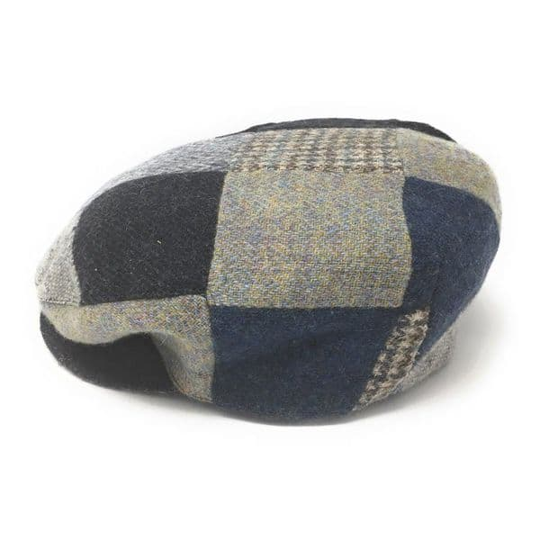 Hats of Ireland Mixed Patch Flat Cap - Blue Range
